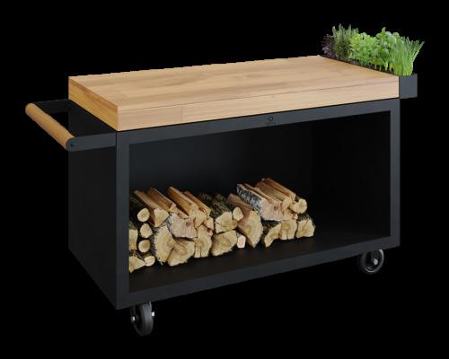 Mise en Place Table PRO Black Teak Wood
